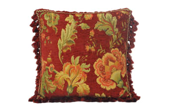 Riva Home Fairvale Cushion Cover (Burgundy)