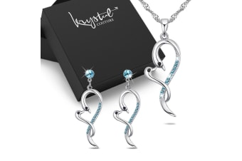 Dancing Hearts Necklace and Earrings Set