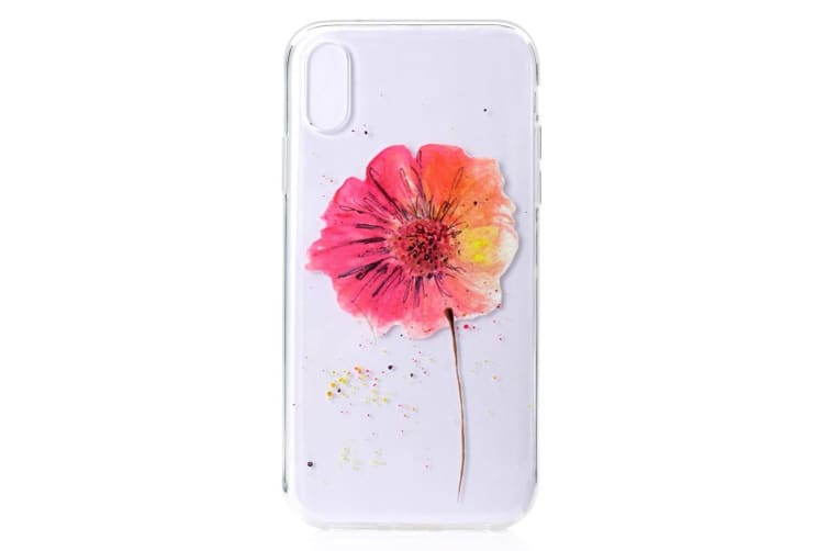 For iPhone XS MAX Cover Grippy Thin Slim Shockproof Phone Case Colorful Flower