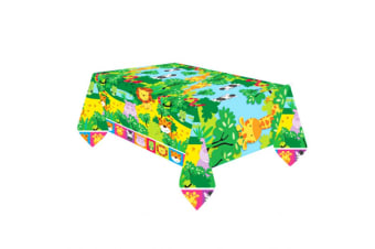 Amscan Jungle Friends Plastic Tablecover (Multicoloured) (One Size)