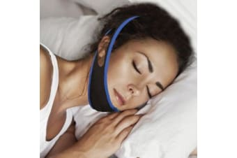 Anti Snoring Adjustable Chin Strap Sleep Aid Jaw Face Breathe Better Stop Snore