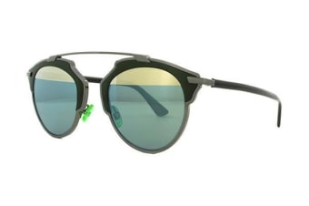 Christian Dior So Real - Dark Ruthenium Dark Green (Green Azure Gold Mirror lens) Womens Sunglasses