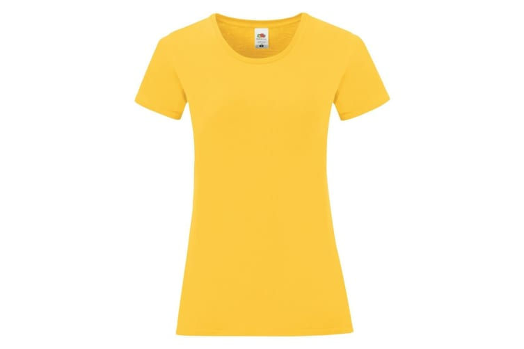 Fruit Of The Loom Womens/Ladies Iconic T-Shirt (Sunflower Yellow) (XL)