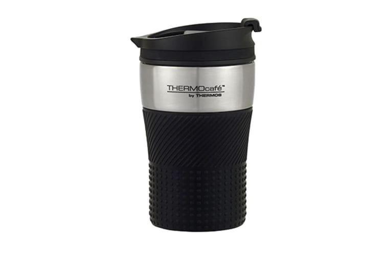 Thermos Thermocafe 200ml Stainless Steel  Vacuum Insulated Coffee Cup - Black