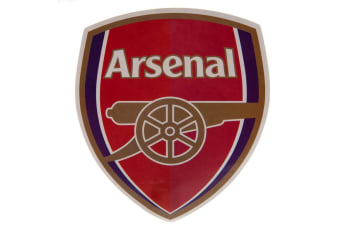 Arsenal FC Large Crest Sticker (Red) (One Size)
