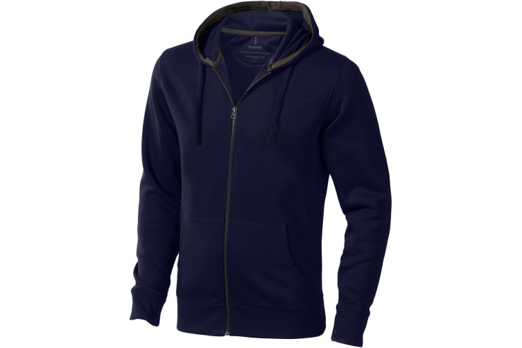 Elevate Mens Arora Hooded Full Zip Sweater (Navy) (M)