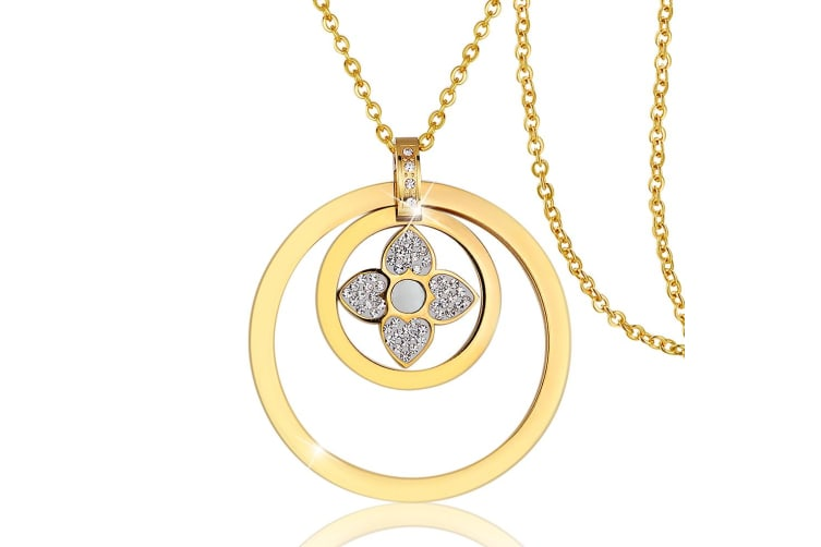 Ashanta Necklace-Gold/Clear