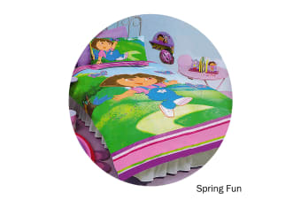 Dora The Explorer Quilt Cover Set Spring Fun Single by Disney by Disney