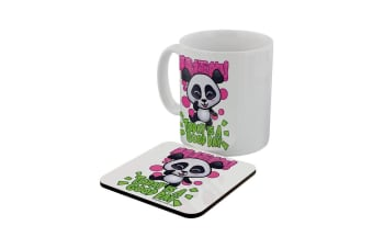 Handa Panda Today Is A Good Day Mug & Coaster Set (White)