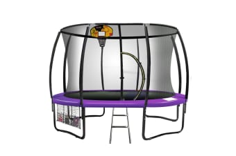 Trampoline 12 ft Kahuna with Basketball set - Purple