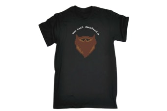 123T Funny Tee - Beard You Cant Download A - (5X-Large Black Mens T Shirt)