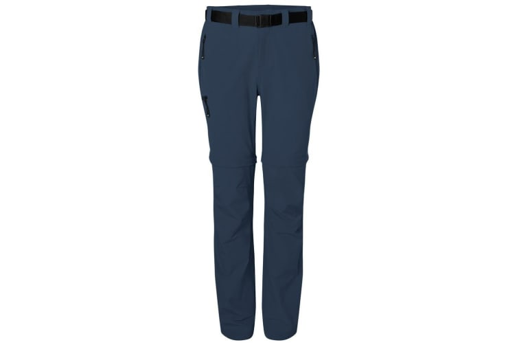 James and Nicholson Womens/Ladies Zip-Off Trekking Pants (Navy) (M)