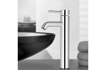 Cefito Bathroom Taps Mixer Tap Faucet Basin Vanity Sink Silver Tall Brass WELS