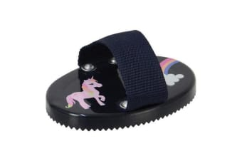 Little Rider Childrens/Kids Little Unicorn Curry Comb (Navy/Pink)