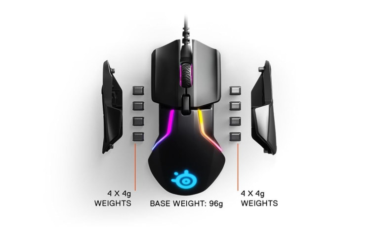 Steelseries Rival 600 mouse USB Optical 12000 DPI Right-hand