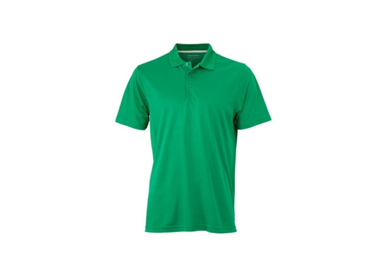 James and Nicholson Mens High Performance Polo (Frog Green) (L)