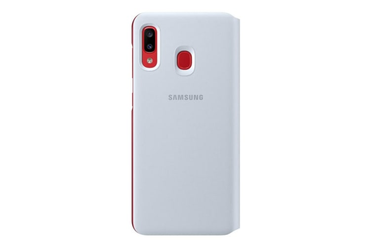 Samsung Galaxy A20 Wallet Cover - White