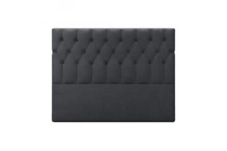 Kyron Fabric Upholstered Queen Bed Headboard - Charcoal