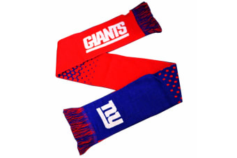 New York Giants Official NFL Fade Crest Design Scarf (Blue/Red) (One Size)