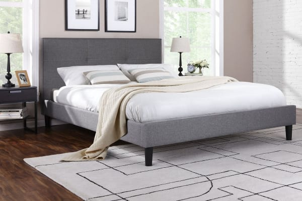 Ovela  Bed Frame - Allegro Collection (Grey, Double)