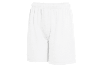 Fruit Of The Loom Childrens/Kids Moisture Wicking Performance Shorts (White) (7-8 Years)
