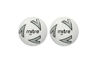2x Mitre Impel 2018 SZ 5 Stitched PVC 30 Panel Soccer/Football Training Ball WHT