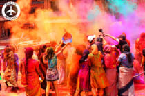 INDIA: 7 Day Holi Festival Tour Including Flights for Two