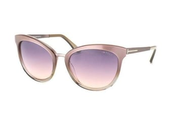 Tom Ford FT0461 - Beige Silver (Violet Grey Shaded lens) Womens Sunglasses