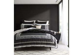 Provence Slate Queen Quilt Cover Set by Logan & Mason