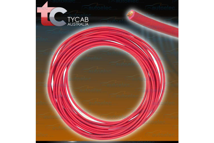 6 B&S SINGLE CORE CABLE DUAL BATTERY SYSTEM 12V 4 METRES RED COVER 6BS BS NEW