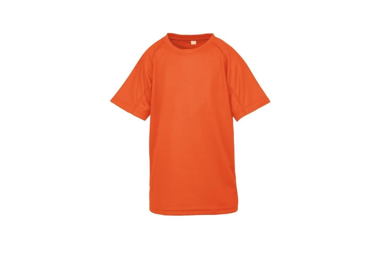 Spiro Chidlrens/Kids Impact Performance Aircool T-Shirt (Flo Orange) (7-8 Years)