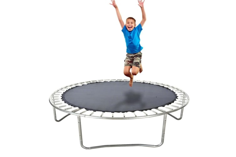 8 FT Kids Trampoline Pad Replacement Mat Reinforced Outdoor Round Spring Cover  -  8ft,about205cm