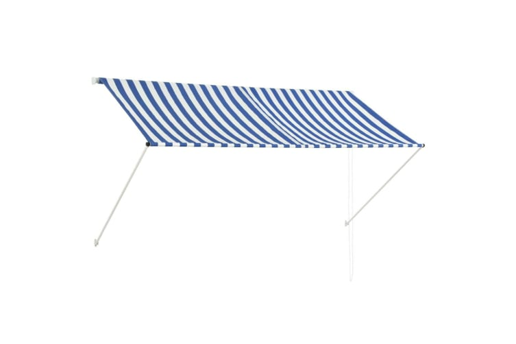 vidaXL Retractable Awning 250x150 cm Blue and White