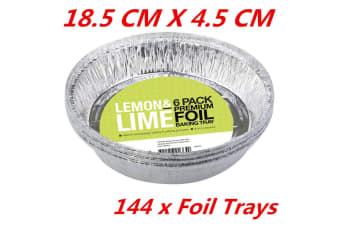 144 x Extra Deep Round Foil Pie Pan Disposable Baking Aluminum Foil Trays Pan Dish