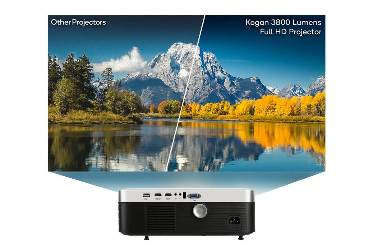 Kogan 3800 Lumens Full HD Projector (F500) Projection Size