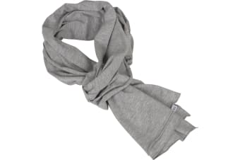 Build Your Brand Adults Unisex Jersey Scarf (Heather Grey)