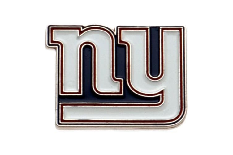 New York Giants Badge (White) (One Size)