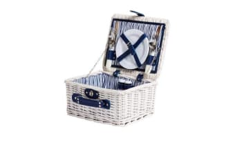 Kitchen Warehouse White Wash Picnic Basket 2 Person Driftwood