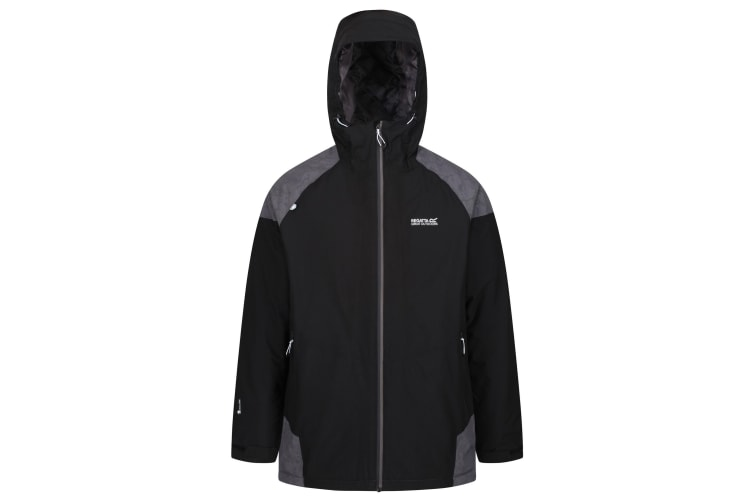 Regatta Mens Garforth III Waterproof Jacket (Black/Magnet Grey) (XXL)