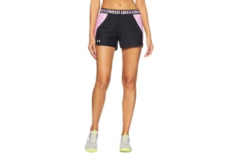 Under Armour Women's Play Up 2.0 Shorts (Black/Icelandic Rose, Size Extra Small)