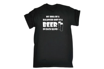 123T Funny Tee - Beer Each Hand Mens T-Shirt