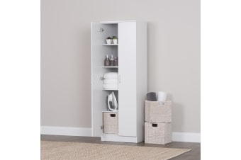 Large Storage Cabinet Organiser Two Door 5 Tier Shelf Room Cupboard RRP $299