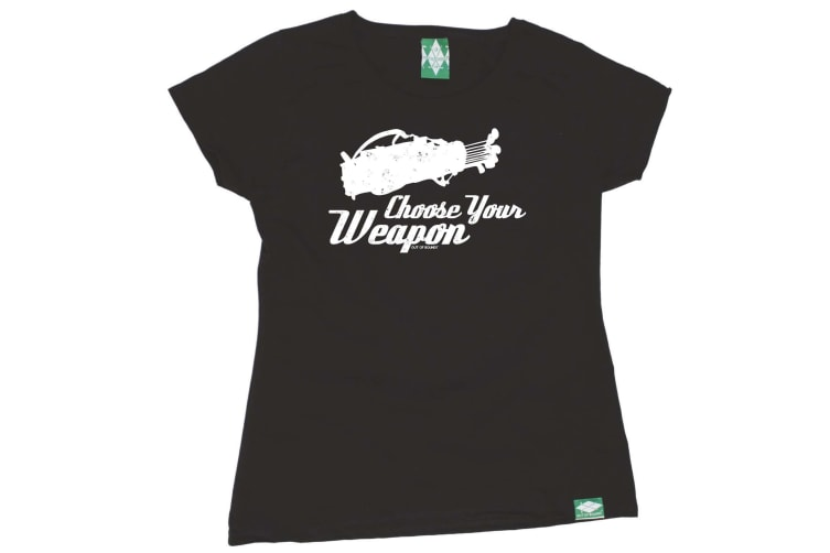 Out Of Bounds Golf Tee - Choose Your Weapon Golf - (Medium Black Womens T Shirt)