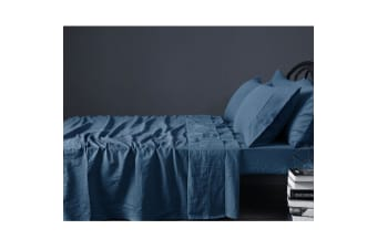 100% Linen Marine Sheet Set KING