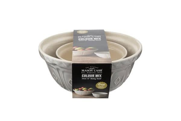 Mason Cash Cane Mixing Bowl Set Grey