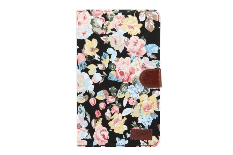 For Samsung Galaxy Tab A 8.0 SM-T380 SM-T385 Case Flower Cloth Leather Cover