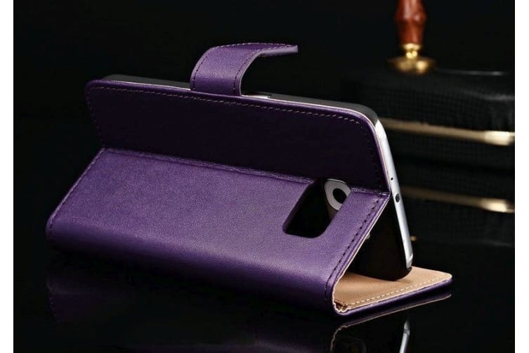 For Samsung Galaxy S7 Wallet Case Modern Slim PU Leather Shielding Cover Purple