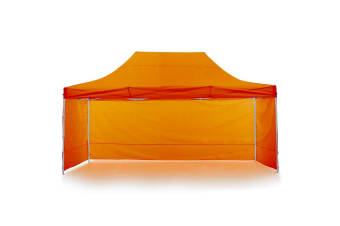 Gazebo Tent Marquee 3x4.5m PopUp Outdoor Wallaroo Orange