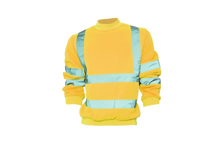Yoko Unisex Hi-Vis Heavyweight Sweatshirt (Pack of 2) (Hi Vis Orange) (3XL)