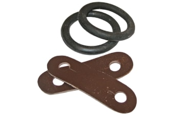 JHL Peacock Rubber Bands & Leather Straps (Black)
